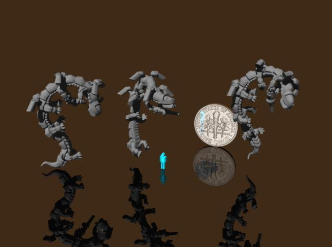 Dragonoid infantry using their power armor jumpjets