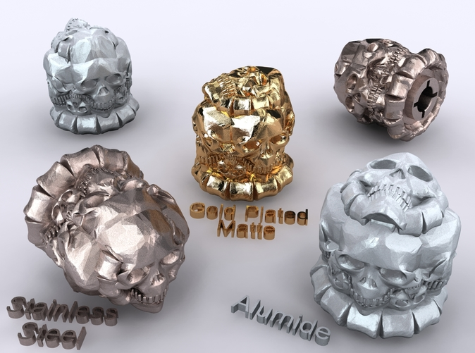 Alumide, Stainless Steel & Gold Plated Matte renders