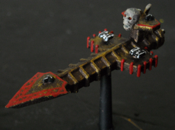 Painted model (V1; Skull by Games Workshop)