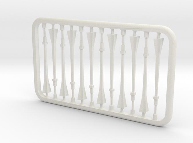 White Strong & Flexible Plastic render.