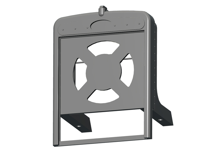 Radiator housing without grille (buy separately)