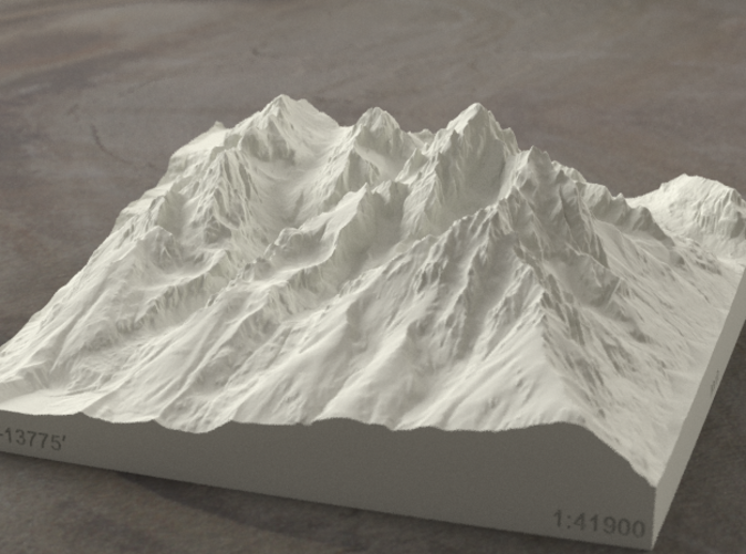 Radiance rendering of model, viewed from the East