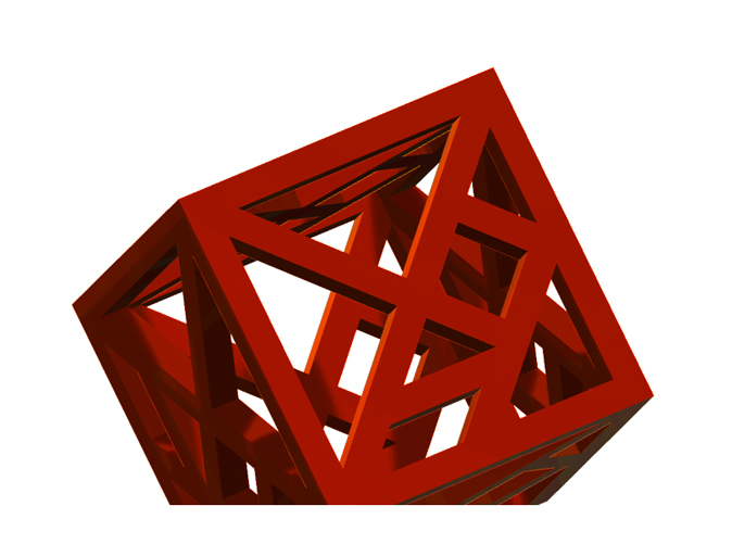 A smaller version of the Tangram Cube