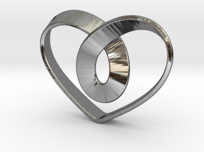Heart Mobius Strip RNSZSCJ8R By JoyComplex
