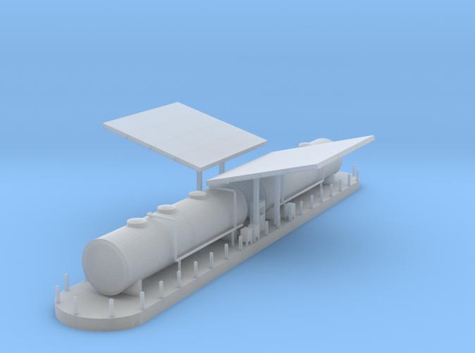 Diesel Fueling station Z scale