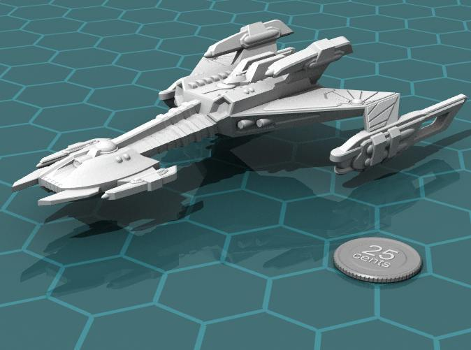 Render of the model, with a virtual quarter for scale.