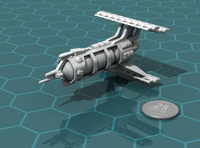 Render of the model, plus a virtual quarter for scale.