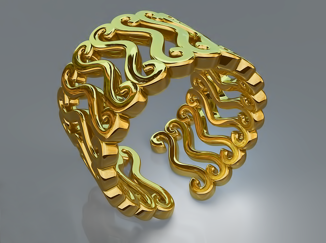 Curly ring (Gold)