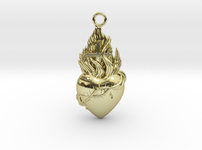 PITTI Medium Pendant in 18k Gold Plated