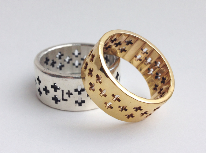 Sterling Silver and Gold Plated Brass
