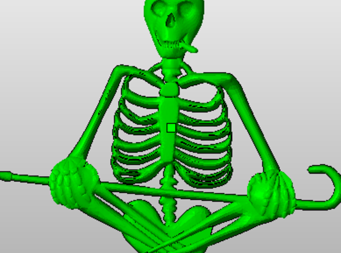 Here he is hanging out in the netfab program, ready to be turned into some awesome jewelry.