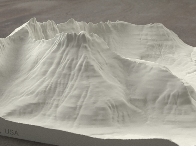 Radiance rendering of model, viewed from the South.