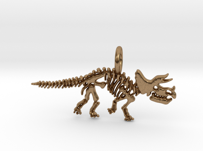 Triceratops Skeleton Pendant (different materials have different prices)