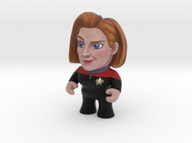 Captain Janeway Star Trek caricature