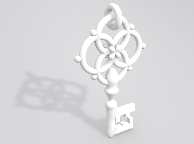 Sample render<br><strong> NOTE:</strong>Ring at the top is now fully attached.