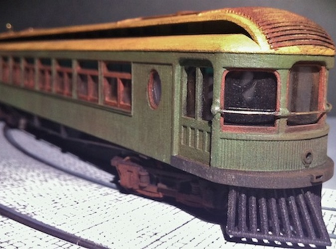 Carbody painted, glazed and weathered