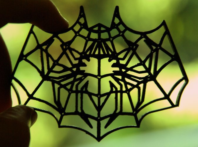 3D print of the 3-layer Spider-Bat Cookie Cutter