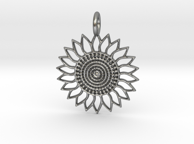 Sunflower Pendant in Silver is spectacular.