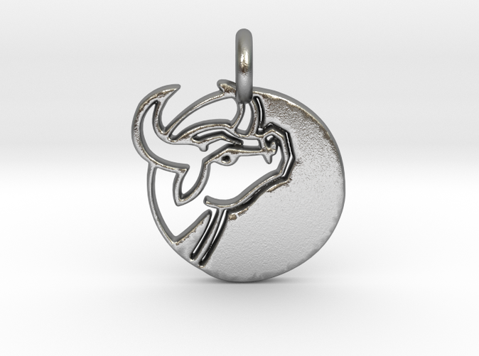 Astrology Zodiac Taurus Sign in silver.