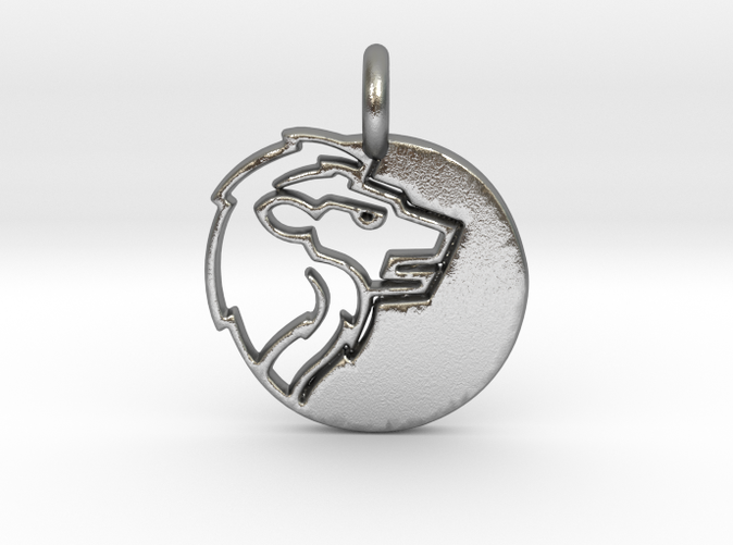 Astrology Zodiac Leo Sign in silver is shining.