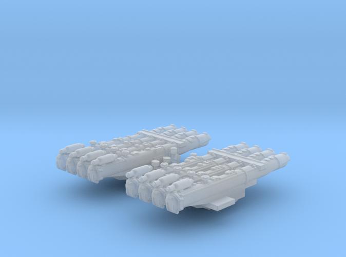 "1/700 RN WW2 Quad 21"" Torpedo Tubes x2"