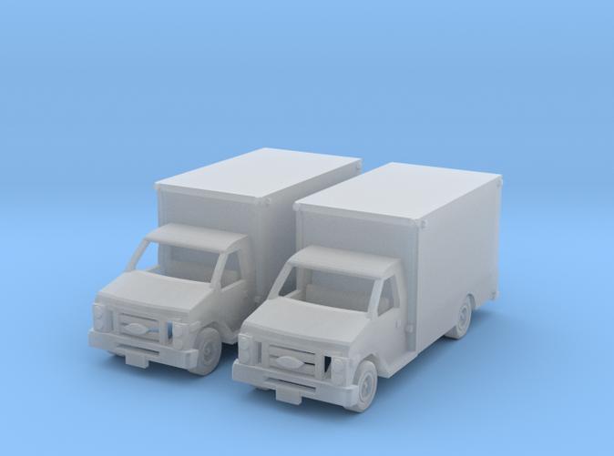 two box trucks Z scale