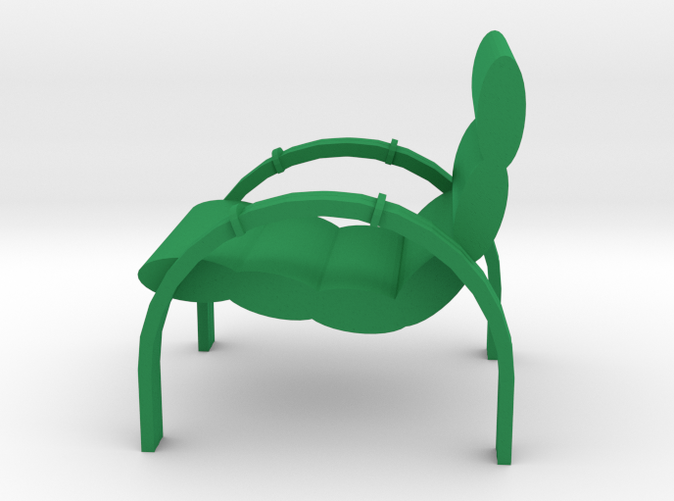 Lawn Chair for the Patio, Retro Style, Green