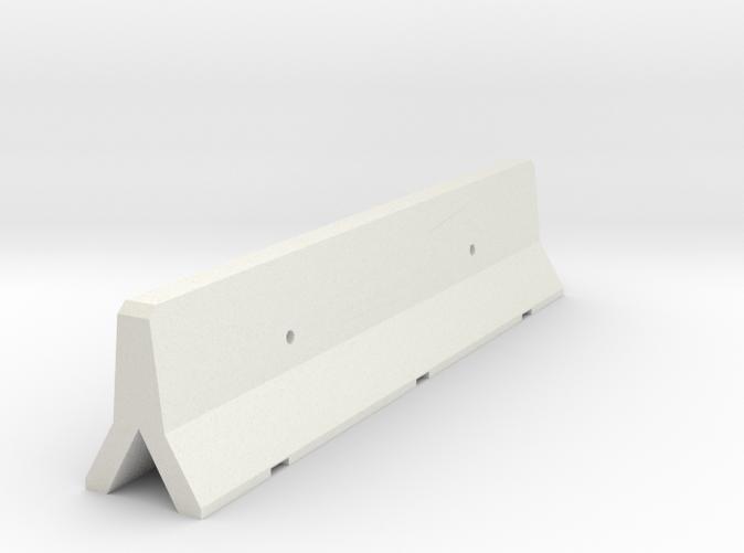 3D render of single concrete barrier