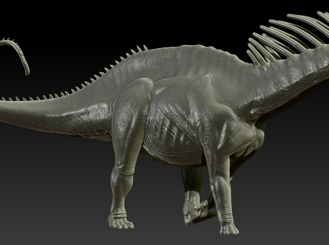 Zbrush Render of final sculpt