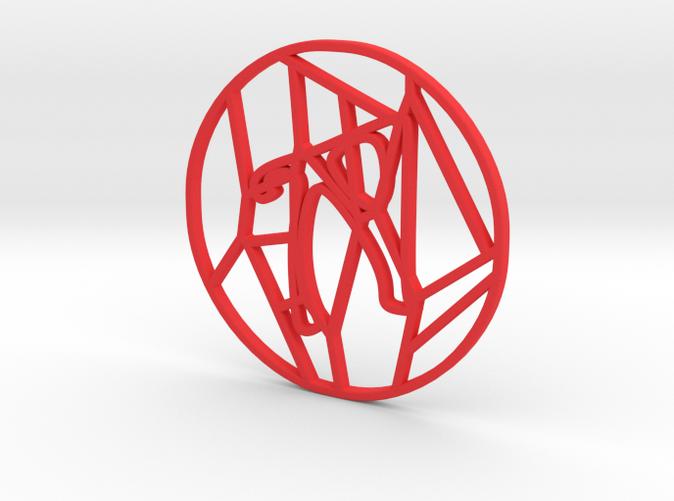 Personalised Voronoi Circular Pattern Coaster (4)