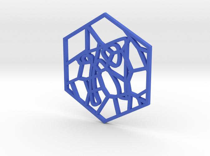 Personalised Voronoi Hexagonal Pattern Coaster (1)