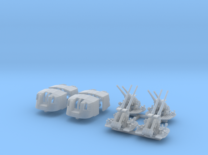 """1/350 4.7"""" MKXII CPXIX Twin Mount x4 40º"""