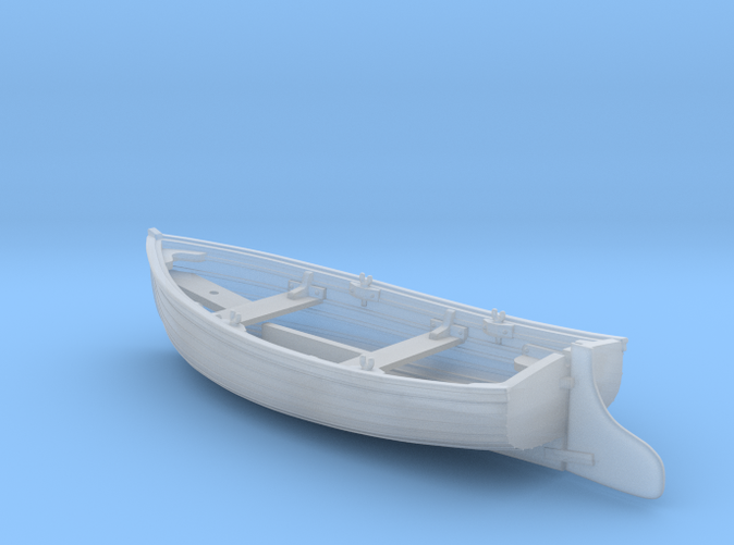 1/96 Scale Allied 10ft Dinghy with Rudder