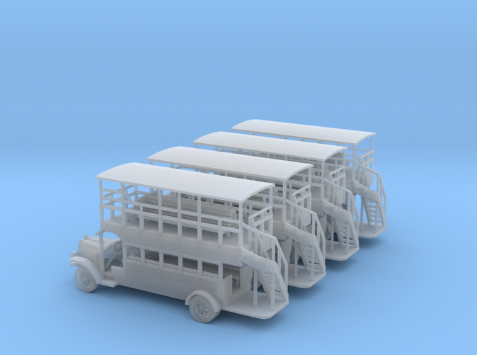 Omnibuses Z scale set of four