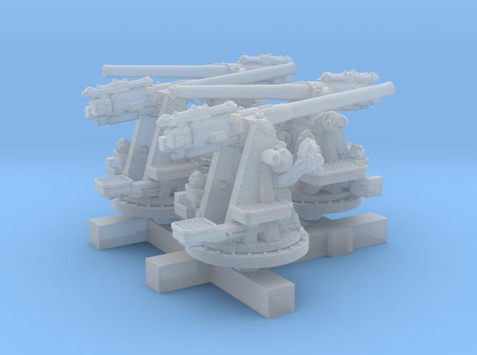 "1/500 RN 4""/45 (10.2 cm) QF MKV MKIII x4"