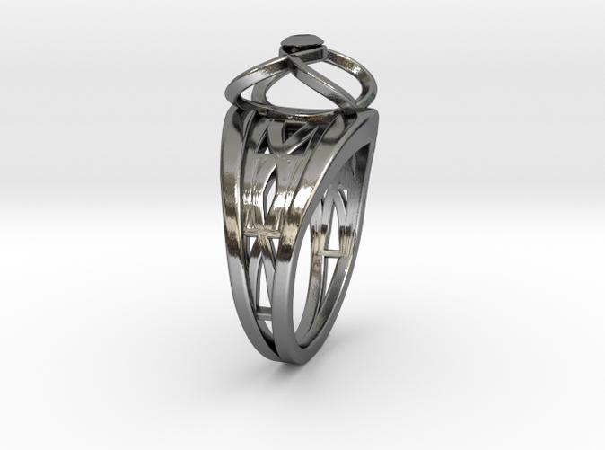 Tangentoidal Crown Curve Twin Ring