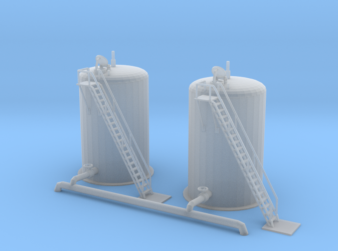 two water fill tanks Z scale