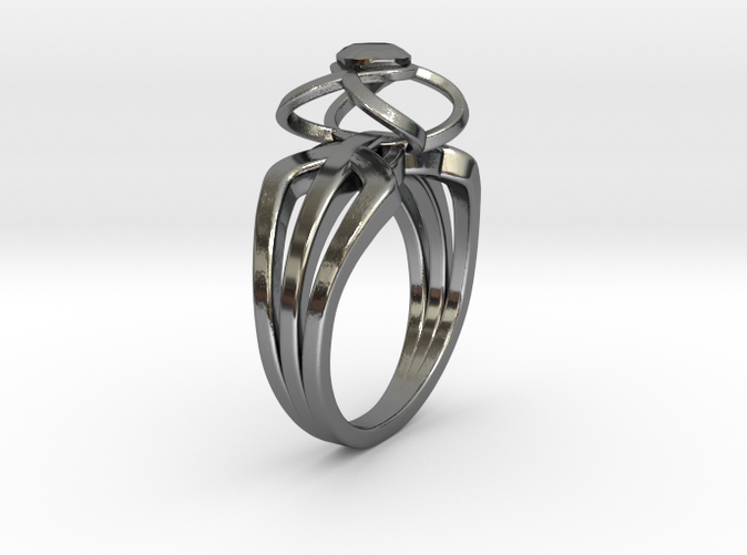 3-2 Enneper Curve Triple Ring (001)