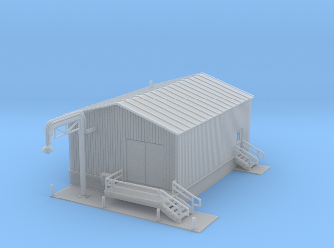 Water Fill Station building Z scale