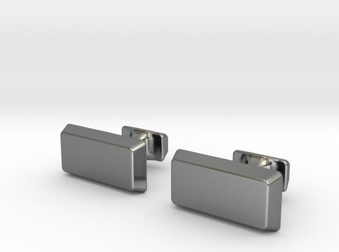 sterling silver bullion bar cuff links