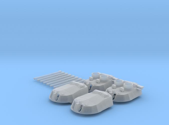 """1/600 15"""" MKI* HMS Warspite Guns 1942 x4"""