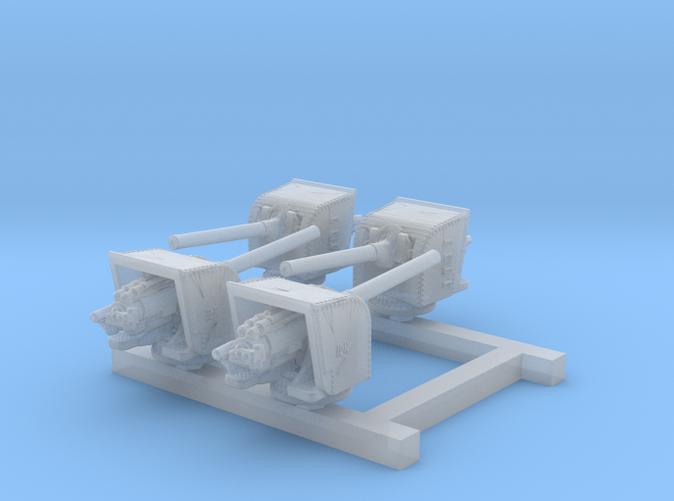 """1/700 5.5"""" MKI Guns Ports Open x4"""