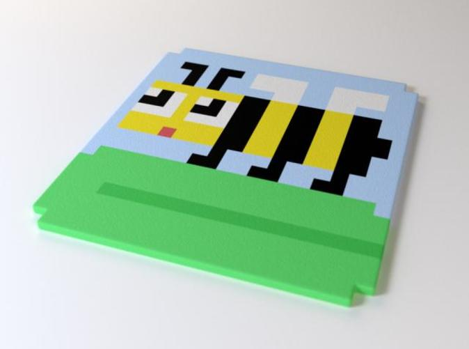 Exclusive 8-bit coaster by the Sevensheaven studio