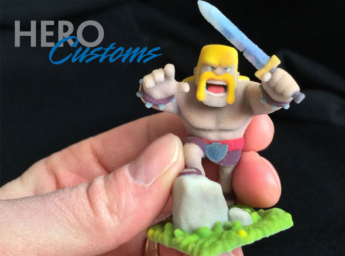 Clash of Clans Barbarian actual 3d print