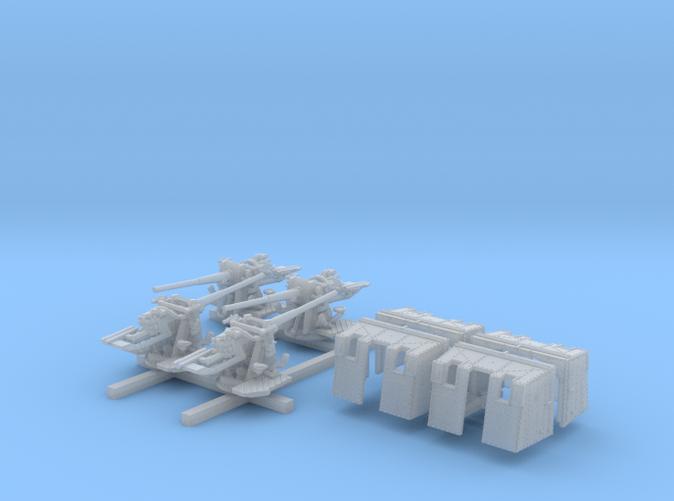 """1/350 4.7""""/45 (12cm) QF Mark IX CPXVII Guns x4"""