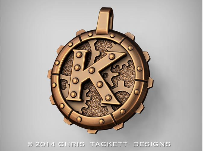 ZBrush Rendering approximating a bronze finish. Actual Bronze finish may look a bit different.