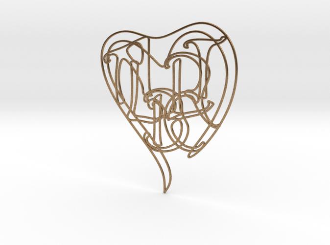 Albert - Personalised 2D Heart