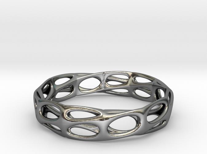 Mobius Band Voronoi Bracelet 65mm (001)