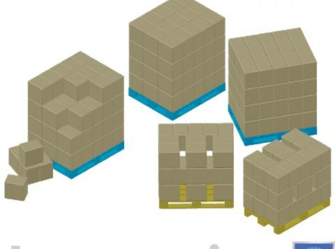 Impression of a few pallets with boxes