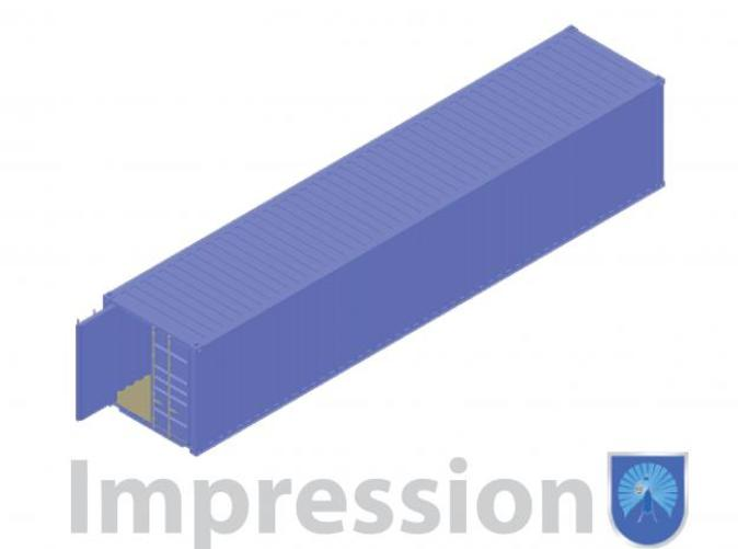 Impression of a shipping container type B